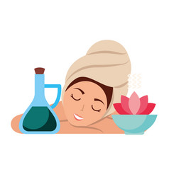 woman skin care spa vector image