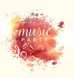 abstract music party watercolor event template vector image vector image