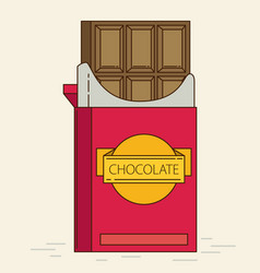 chocolate retro flat style vector image vector image