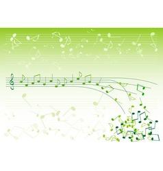 green notes vector image