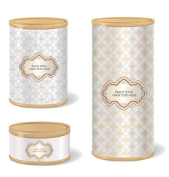 metal can set blank tincan collection with vector image