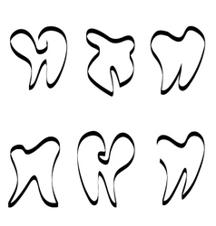 Set of tooth logo vector image