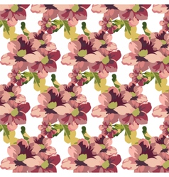Vintage Watercolor geranium flowers pattern vector image vector image