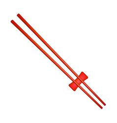 wooden chopsticks in red design vector image vector image