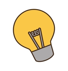 cartoon bulb light idea creativity vector image vector image
