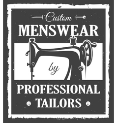 Professional tailor label vector image
