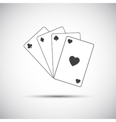 Simple playing cards icon game vector image