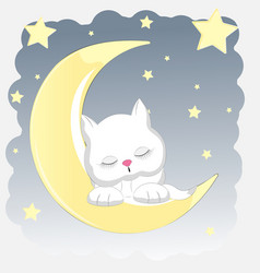 cat sleeps vector image vector image