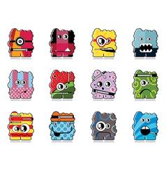 Set of twelve monster vector