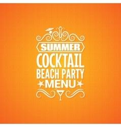 summer cocktail party menu design background vector image