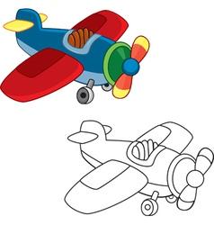 Toy plane vector image vector image