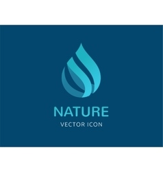 water wave and drop icon symbols vector image vector image