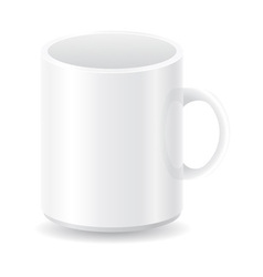 white blank cup vector image
