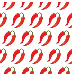 Seamless pattern with red chili peppers vector image