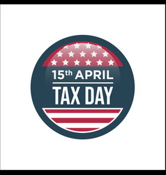 15th april tax day sign vector