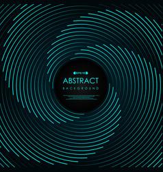 Abstract blue line swirl pattern artwork design vector