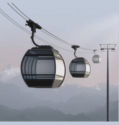 aerial cable car vector image