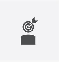 Arrow target head icon vector