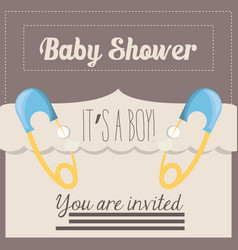 baby shower card happy invitation vector image
