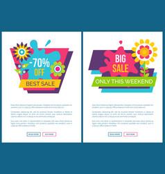 Best sale 70 advertisement spring sale web pages vector