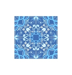 Blue and white tile portuguese famous symbol vector