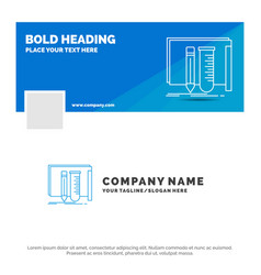 blue business logo template for build equipment vector image