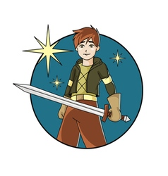 Boy with the sword vector
