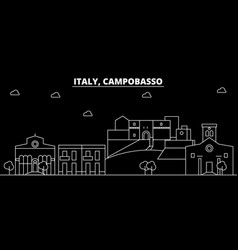 campobasso silhouette skyline italy - campobasso vector image