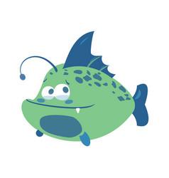 Cartoon fish funny sea fish vector