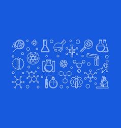 chemistry education concept outline modern vector image