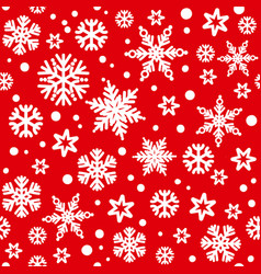 Christmas seamless pattern with white snowflakes vector