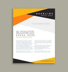 Clean business leaflet brochure template vector
