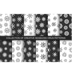 collection seamless geometric virus vector image