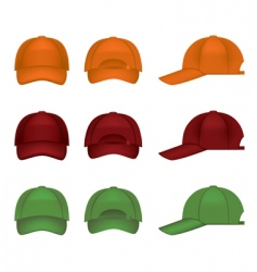 colorful baseball caps vector image