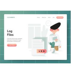 computer log file concept modern design concept vector image