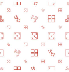 Cube icons pattern seamless white background vector