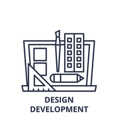 design development line icon concept design vector image