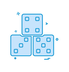 dice icon design vector image
