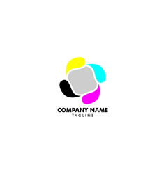 digital print logo design template vector image