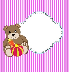 dolly bear vector image