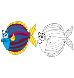 Doodle animal for fish vector