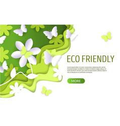eco friendly website landing page design vector image