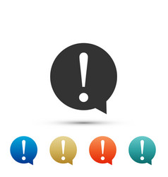 exclamation mark in circle icon isolated vector image