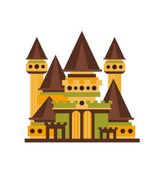 fairytale medieval castle with towers vector image