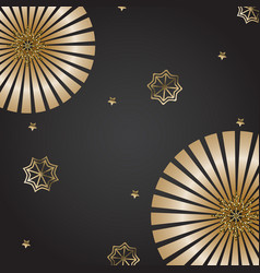festive banner background with gold snowflakes and vector image