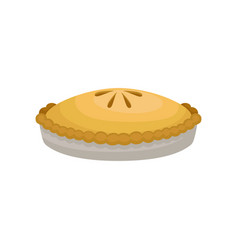flat icon of delicious homemade apple pie vector image