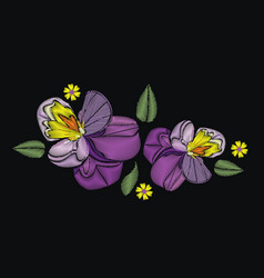 Flowers isolated on black background vector