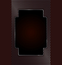geometric design with metal grille and frame vector image