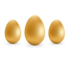 Golden eggs happy Easter EPS8 vector image