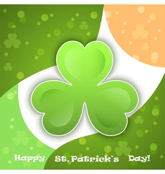 green clover - Saint Patricks Day vector image